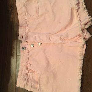 Pink cut off Jean shorts